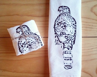 Hawk Tea Towel - Flour Sack Towel
