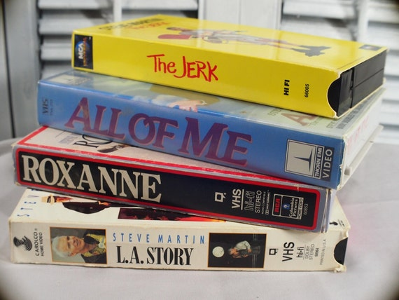 Steve Martin VHS 5 great comedies, The Jerk, L.A. Story, All Of Me, Roxanne; Daryl Hannah Lily Tomlin Bernadette Peters Victoria Tennant