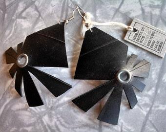 Recycled Bike Tube Earrings