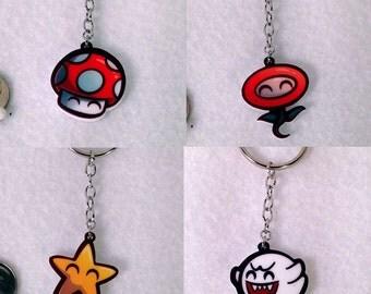 Mario Bros Inspired Keychains