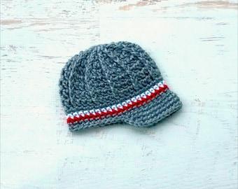 Crochet Valentines Baby Boy Baby Girl Newsboy Hat Photography Prop
