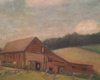Original Barn Painting on Canvas