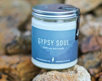 Gypsy Soul - 8 oz. Natural Soy Candle