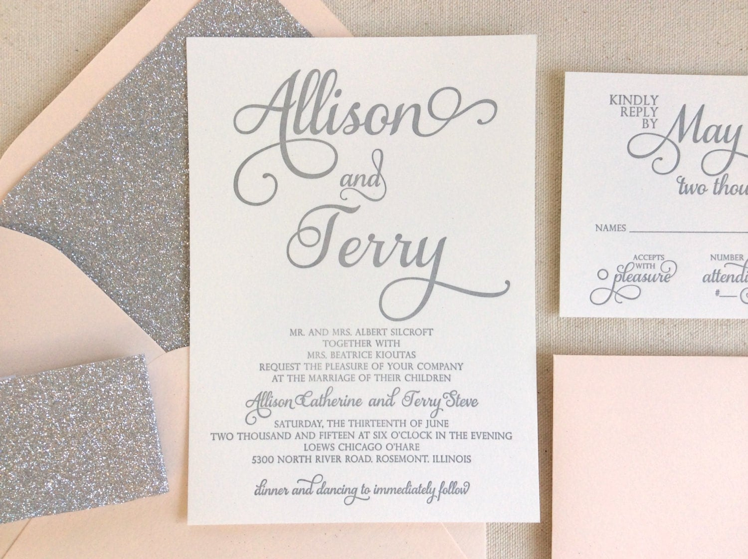 Wedding Invites Letterpress: The Stargazer Suite Modern Letterpress Wedding Invitation