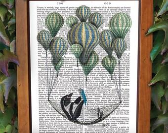 Penguin print - Penguin Hammock - penguin décor penguin gift penguin wall art cute penguin penguin poster penguin illustration Penguin art