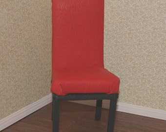 SALE! Playscale Red Leather Side Chair