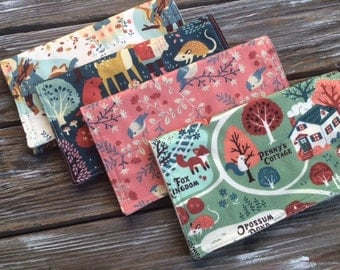 ORGANIC Burp Cloths ~ Nature//Deer//Birds//Woodsy//Natural//Hike//Animals//Acorn Trail