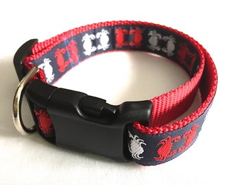 PREPPY PATRIOTIC CRABS ~ Dog Collar -Leash Sold Separately