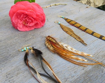 Feather Boho Earrings