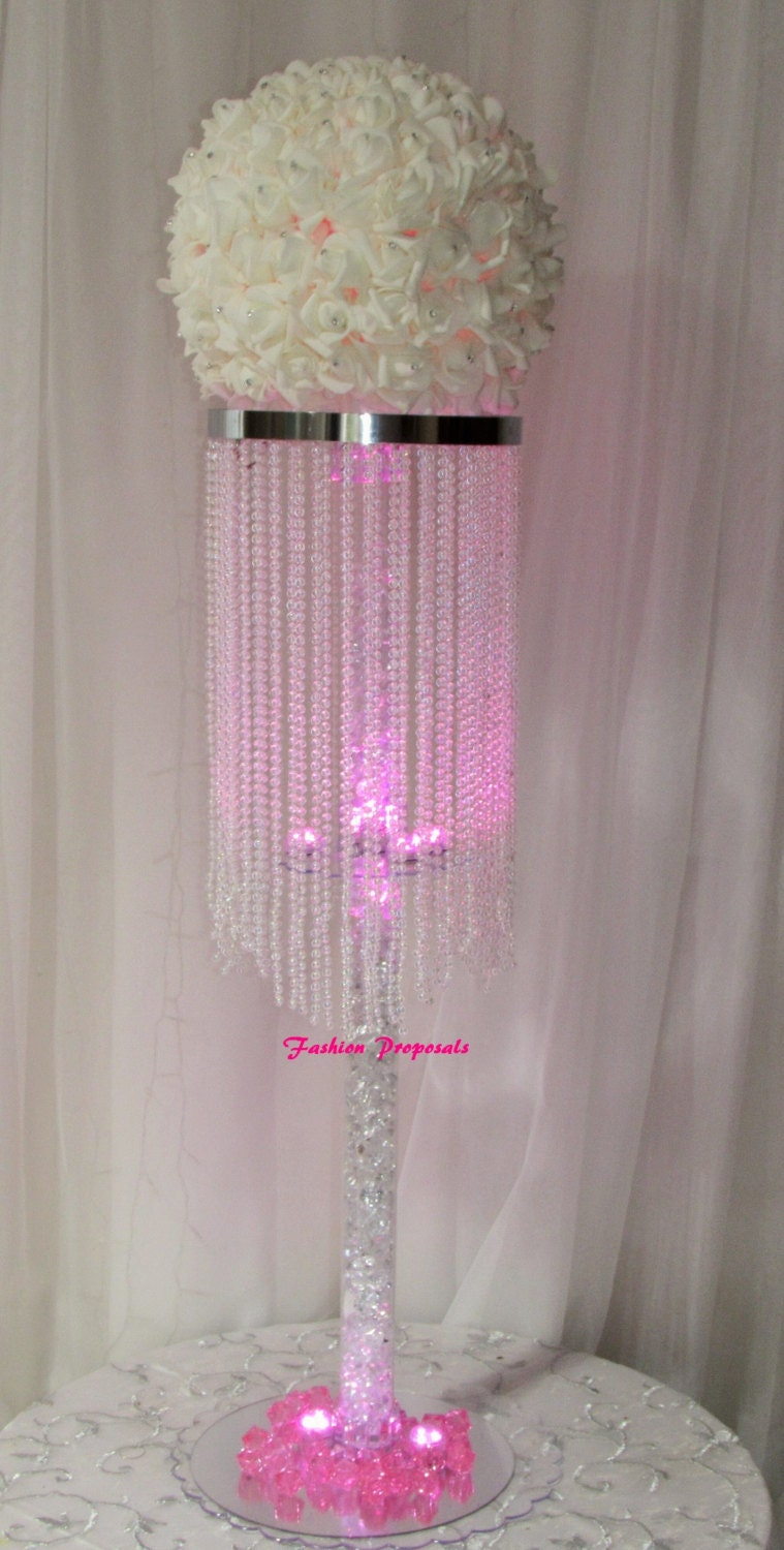 10 table top chandelier wedding centerpiece 1 by
