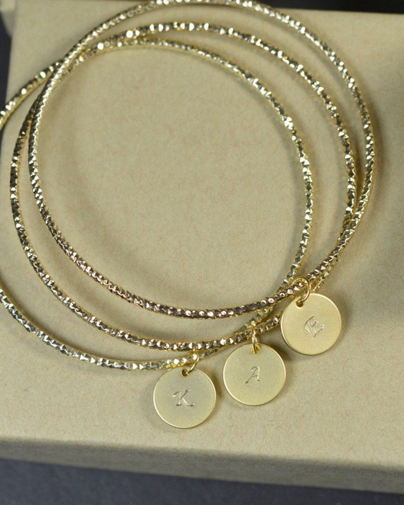 Personalized3 Sisters Bangle Bracelets,3 Mother Daughter -1447