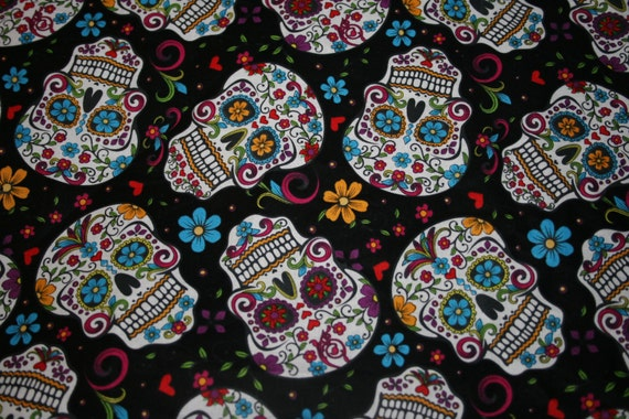 Beautiful Skull Custom Made Fitted Crib Sheets And Pillow