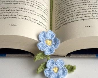 Forget me not/crochet bookmark/bookmark/unique gift/teacher's gift