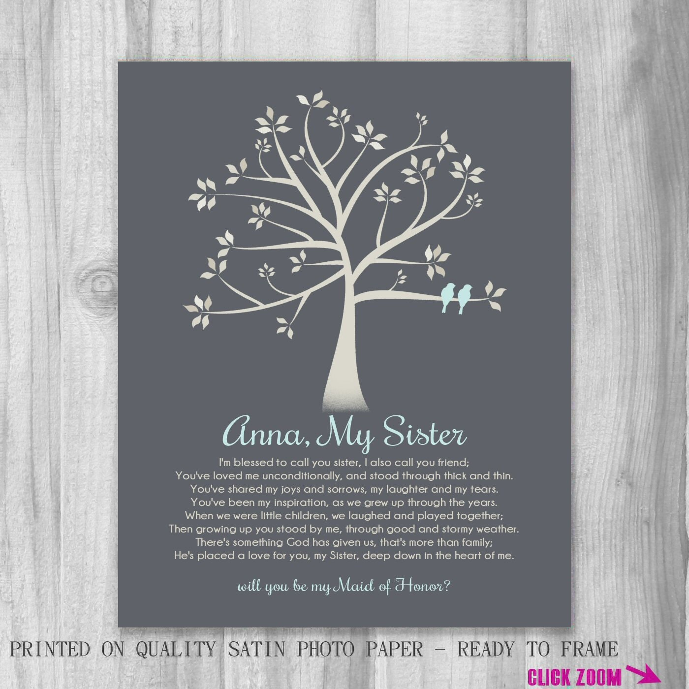 will you be my maid of honor poem sister