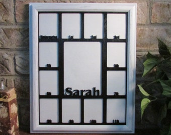 school years frame with name graduation collage k 12 white picture frame black matte 11x14