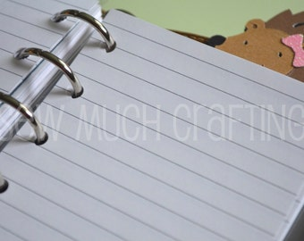 Printed Pocket Size Lined Paper