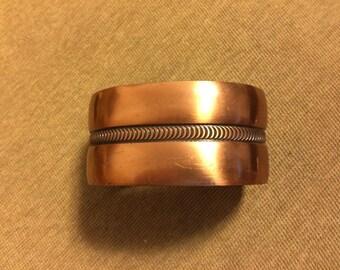 1960's copper cuff bracelet