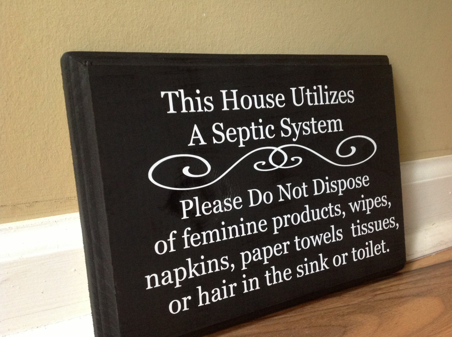 Bathroom Signs Ireland septic system rules wooden sign plaque do not flush sign