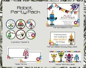 Robot Party Pack | Digital Files