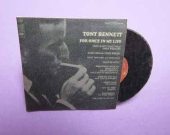 Record Album Tony Bennett For Once In My Life - dollhouse miniature 1:12 scale