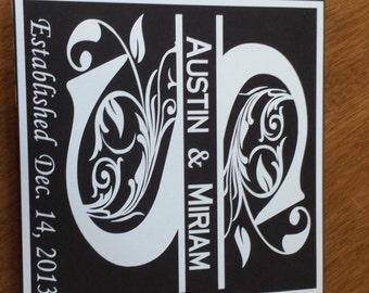 12 X 12 Monogram Black Matte Tile