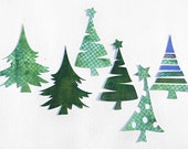 SVG christmas tree ornaments embellishments set, cut file for electronic cutting machine, crafts project for cards, decoration, 6 svg,dxf