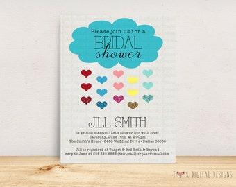Cloud Bridal Shower Invitation - Custom - Printable
