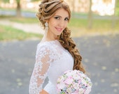 wedding bouquet, bridal bouquet, peony bridal bouquet Alternative bouquet Handmade Clay Flower bouquet