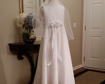 White A-Line First Communion Dress named Sarah