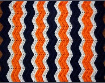 Handmade Denver Broncos Colors Yarn Etsy