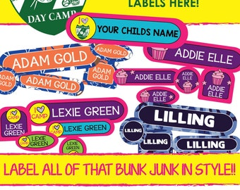 Camp Labels! 120 WATERPROOF name labels - VALUE PACK