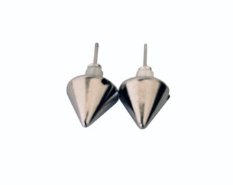 Silver Spike Stud Earrings