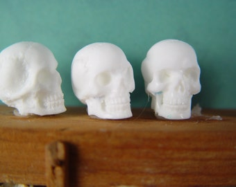 Dollhouse Miniature 1:12th Resin Skull, U Paint for Goth Witch, Wizard, Vampire, Harry Potter