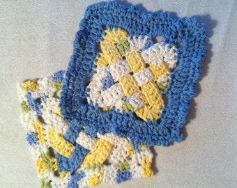 Celtic Crocheted Pot Holders/Trivets