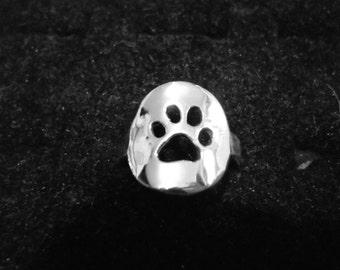 dog paw ring dime size