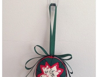 Hand quilted Christmas Bauble