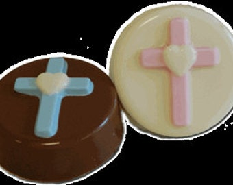 12 Communion Christening Baptism Confirmation Chocolate Covered Oreos Candy Buffet Table