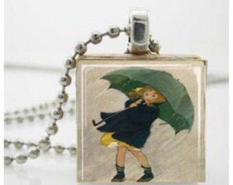 Necklace - Rainy Umbrella Girl