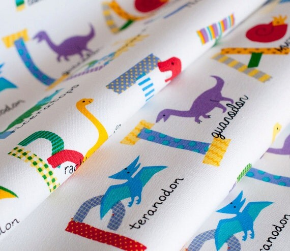 Unavailable listing on etsy for Kids dinosaur fabric