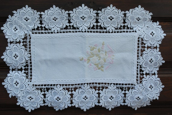 Vintage Crochet Furniture Doilies Hand Embroidery By Natandre