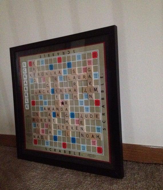 Personalized Framed Scrabble Boards Custom Made