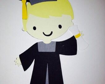 Boy Graduation Scrapbooking Die Cut Embellishment