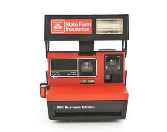 Polaroid State Farm Insurance Business Edition with original box - Polaroid 600 type camera - Instant Camera Tested - Working