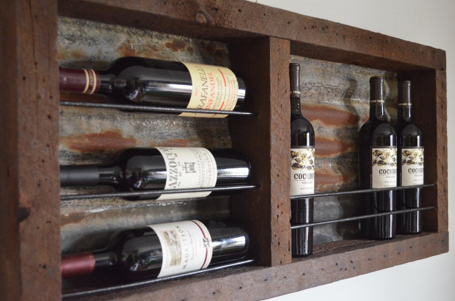 barnwood wine rack reclaimed barnwood wine rack with rusted tin barn roof 1489