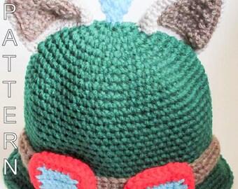 Crochet Pattern - Teemo Hat, League Of Legends Hat, LOLHat, Gamers Hat
