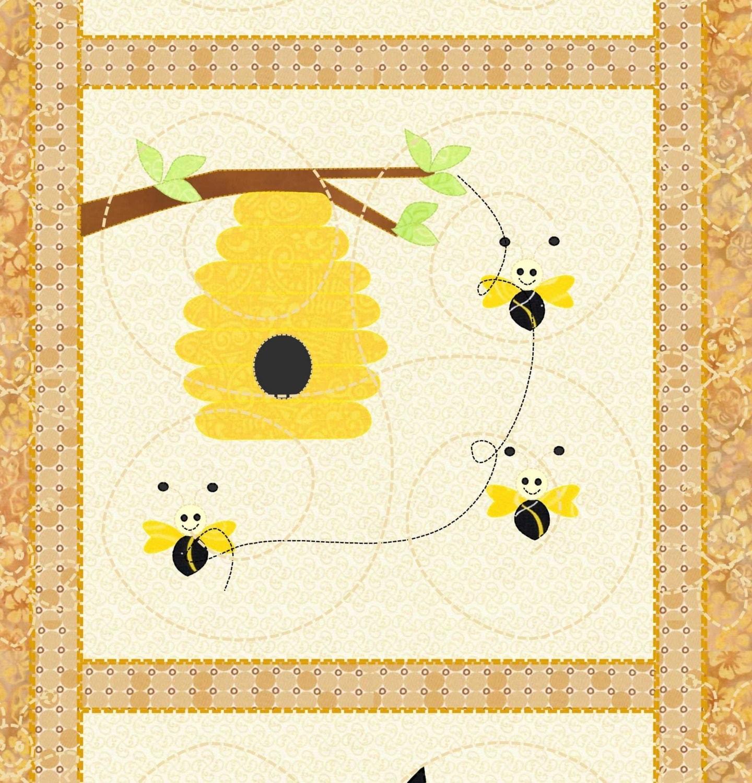 Honey bee table runner pattern kindergarden designs for Table design patterns