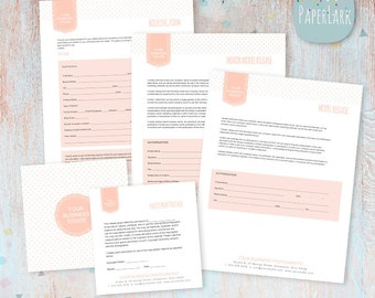 Photography Form Templates - Basic Business Set Up Forms NG004 - INSTANT DOWNLOAD
