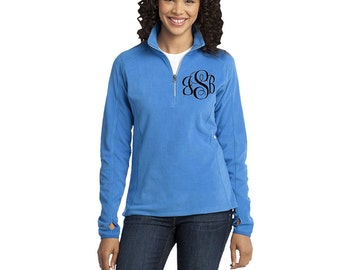 Monogrammed Fleece Pullover