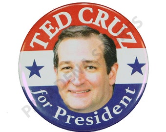 """2016 TED CRUZ for PRESIDENT Campaign Button, 2.25"""" Diameter tcs"""