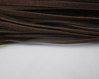 Saddle Brown Wool 30 Feet,  Brown Wool Cord 3 x 1mm,  Brown Cord, Great for Bracelet/Necklace